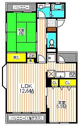 多摩サンハイツ[2階]の間取り