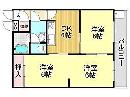 南野マンション[1O1号室号室]の間取り