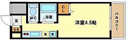 奥内阿波座駅前マンション[8階]の間取り