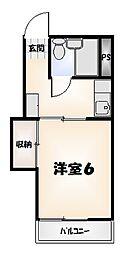 エイトマンション[3号室]の間取り