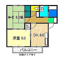 カーサ堀[2階]の間取り