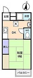 フラワーコーポ薬円台I[2階]の間取り