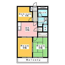ガーデンロイヤル A棟[2階]の間取り