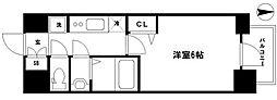 プレサンス松屋町ヴェルデス 5階1Kの間取り