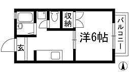 ドミール寿[2階]の間取り