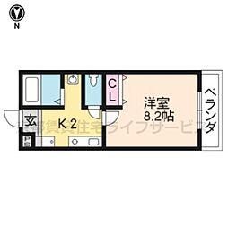 Largo讃州寺[405号室]の間取り