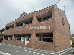 岡山県総社市中原丁目なしの賃貸アパートの外観