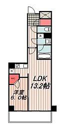 東京メトロ有楽町線 豊洲駅 徒歩8分の賃貸マンション 14階1LDKの間取り