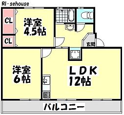 阪本アパート[406号室]の間取り