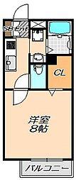 兵庫県神戸市灘区五毛通2丁目の賃貸アパートの間取り