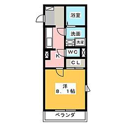 ヴィア和来 II[2階]の間取り