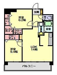 スカイシャトレ柚須[9階]の間取り