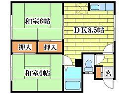 芙蓉台コーポ[2階]の間取り