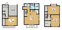 [タウンハウス] 神奈川県横浜市港北区新吉田東3丁目 の賃貸【/】の間取り