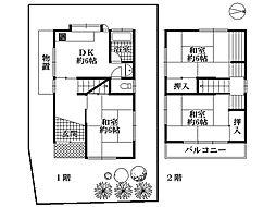 一戸建て(高槻駅からバス利用、59.00m²、1,350万円)
