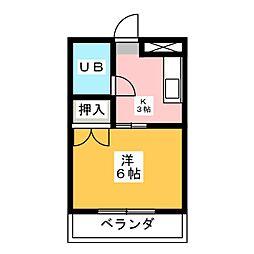 コーポちひろ[2階]の間取り