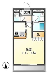 ベル・シャトー[1階]の間取り