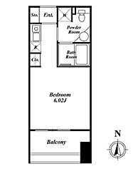 クレジデンス神谷町(旧:神谷町デュープレックスC's)[1302号室]の間取り