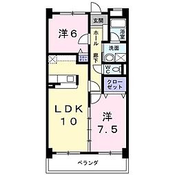 ラ・カーサSHIMADA[0202号室]の間取り