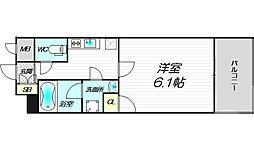 Luce Minamimorimachi 6階1Kの間取り