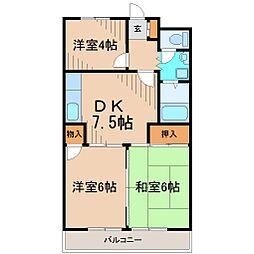 グリーンパーク湘南[3階]の間取り