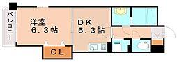 レジデンス御笠1[2階]の間取り