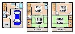 [一戸建] 大阪府東大阪市布市町2丁目 の賃貸【/】の間取り