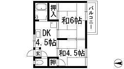 グリーンハイム萩原2[2階]の間取り