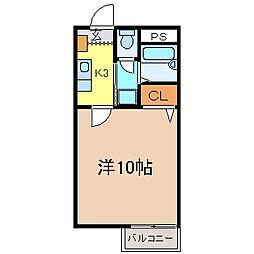 フォブール蔵本[109号室号室]の間取り