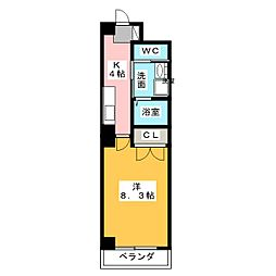 一色館[5階]の間取り