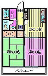 パナヨシハラA棟B棟[2階]の間取り