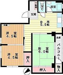 藤井マンション[101号室]の間取り