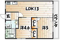 新光荘[2階]の間取り