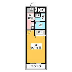 シャンテ豊橋[3階]の間取り