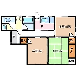 [一戸建] 長野県松本市神田1丁目 の賃貸【/】の間取り