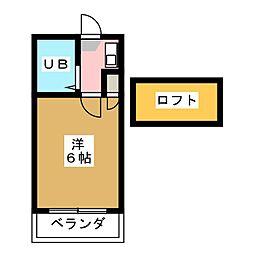 ホワイトハイツ花塚[2階]の間取り