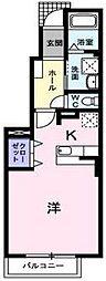 ラミアカ−メラ ウーノ[1階]の間取り