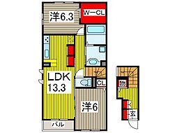 (仮)D-room新曽南[2階]の間取り