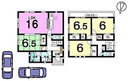 全居室6帖以上のゆとりある間取りです。モデルルームもございますのでお気軽にお問合せ下さい。