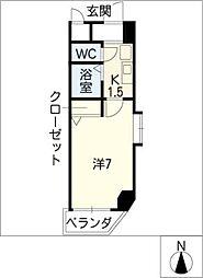 アスクHARAビル[2階]の間取り