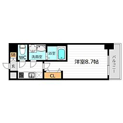 Osaka Metro長堀鶴見緑地線 京橋駅 徒歩9分の賃貸マンション 5階1Kの間取り