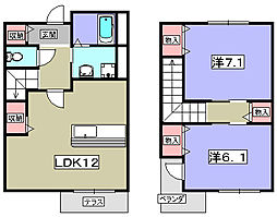 ラフレシールレストI[1階]の間取り