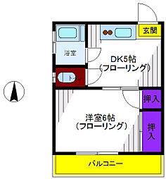 ハイムカルミア[2階]の間取り