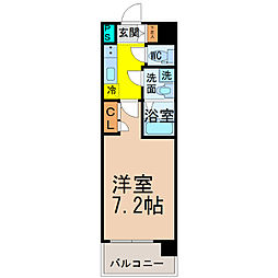 愛知県名古屋市西区名駅2丁目の賃貸マンションの間取り