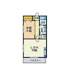 福岡県福岡市南区和田3丁目の賃貸アパートの間取り