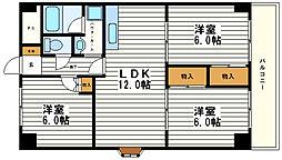 ジオナ松屋町[10階]の間取り
