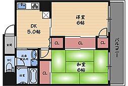 野田スカイハイツ[2階]の間取り