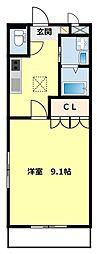 愛知県豊田市平戸橋町太戸の賃貸アパートの間取り