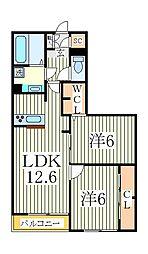 カサミエント[3階]の間取り