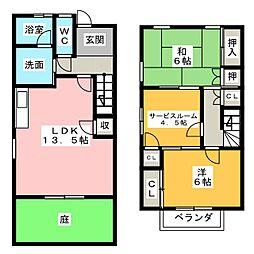 タウン三好ヶ丘 E棟[1階]の間取り